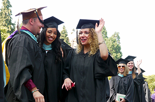 Students at COE Graduation 2015