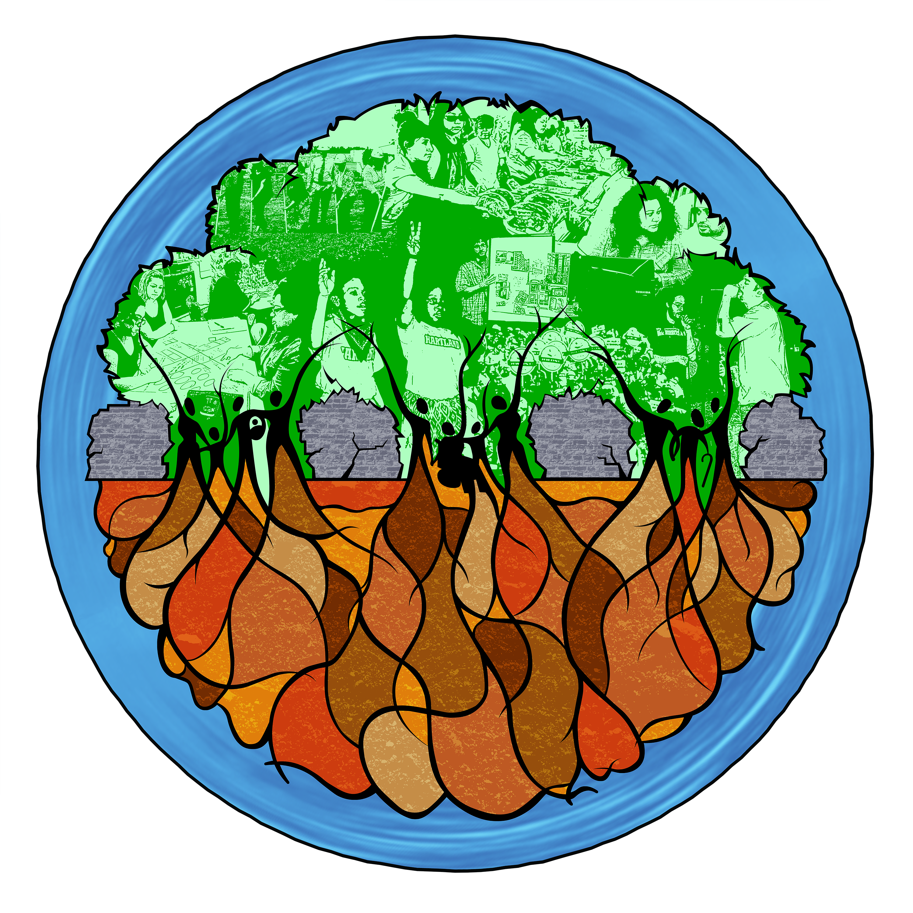FLDC logo image with trees above, earth below, and people where they meet.