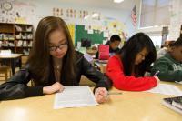 Middle school classroom