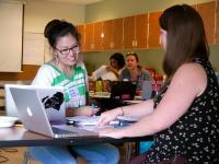 Teacher leaders working on curriculum