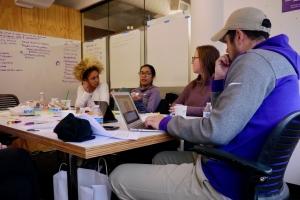 Undergraduate students collaborate